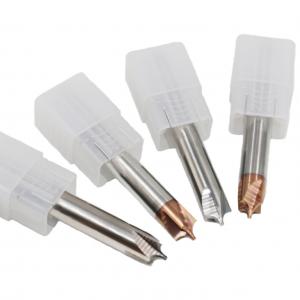 Carbide HRC65 4 Flutes Chamfer Milling Cutter