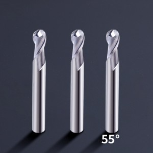 HRC55 Aluminium Work piece carbide ball nose router bit