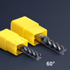 hrc60 Carbide 4 Flutes Standard Length End Mills