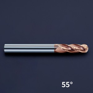 HRC55 4 Flute Ball Nose End Mill