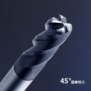 HRC45 Carbide 4 Flute Standard Length Corner Radius End Mills
