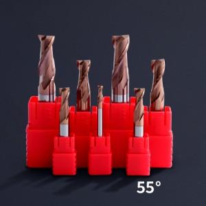 2 Flutes Carbide 2 Blades Standard Length End Mills