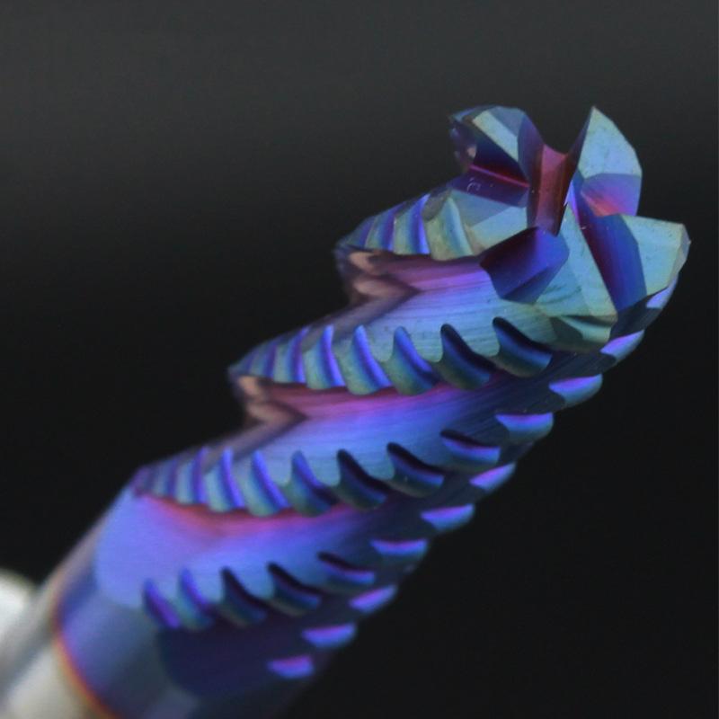 Blue nano-coated rough milling cutter (2)