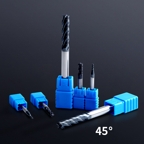 End Mill Cutter 4 flutes Square End Mill With High Precision (1)