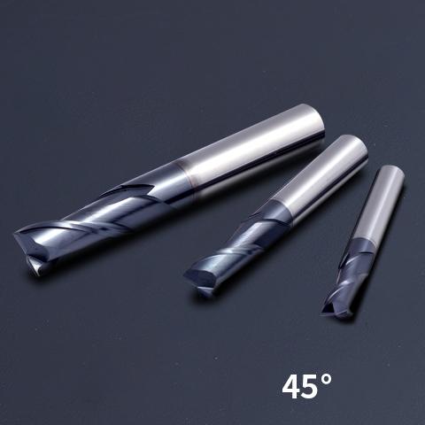 HRC45 Black Nano-Tech For Steel End Mill Slot Cutter (1)