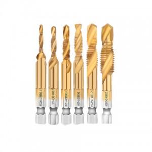 HSS Tap Drill Set M3, M4, M5, M6, M8, M10 Drill Tap Bits